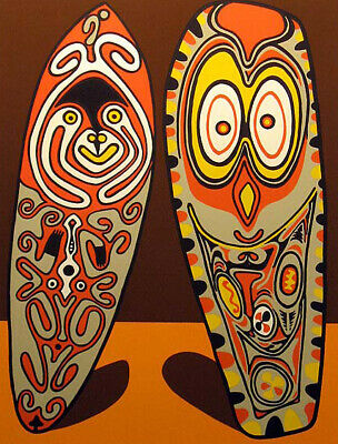 "Douglas Mazonowicz ""Friendly Totems"" Hand Signed Serigraph UK artist 1979 OBO"