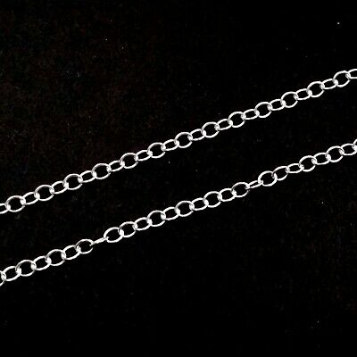 3x4mm Sterling Silver 925 OVAL CABLE CHAIN Sold by the foot BULK Continuous