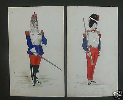 Original 1866 Military Watercolours - Military Tailor ?