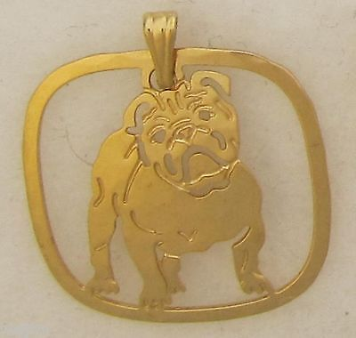 Bulldog Jewelry Gold Full Body Bulldog Pendant