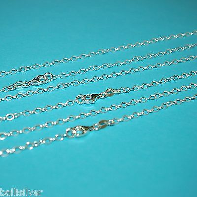 """3 pieces 40"""" 102cm Sterling Silver 925 3x4mm OVAL ROLO CABLE Chain Necklaces Lot"""