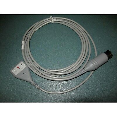 New 3 Lead EKG ECG Cable with 6 Pin Plug Works with Many Models Made in USA