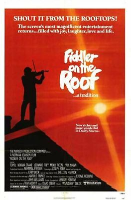 FIDDLER ON THE ROOF - 1979 original 27x41 One-Sheet Movie Poster - TOPOL