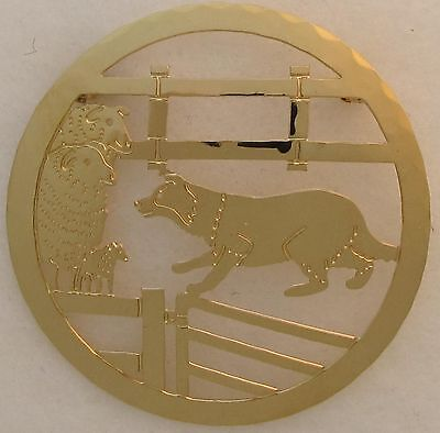 Border Collie Jewelry Gold Pin by Touchstone