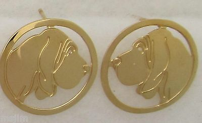 Bloodhound Jewelry Gold Post Earrings by Touchstone