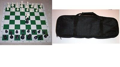 CARYALL CHESS BAG TOURNAMENT PIECES 2 QUEENS BOARD SET