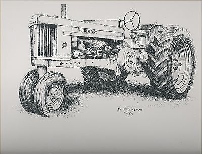 John Deere 50 Tractor 11x14 Matted Limited Edition Print #'d 41/500