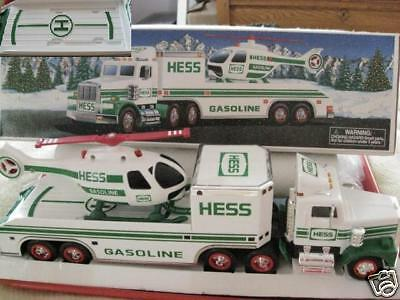 Truck and Helicopter transporter  HESS TOY TRUCK 1995   MIB