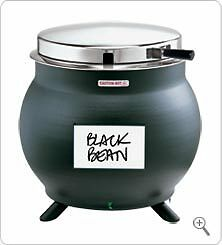 SOUP WARMER SERVER KS 84290 BLACK KETTLE SHAPED 7-qt