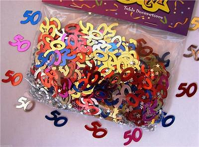 Two Bags Of 50th Birthday Party Table Metallic Confetti