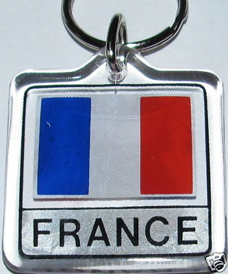 France, République française Flag Key Chain NEW