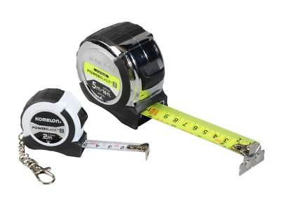 Stanley Komelon 8M/26Ft White Tape Measure Double Sided With Handy Belt Clip
