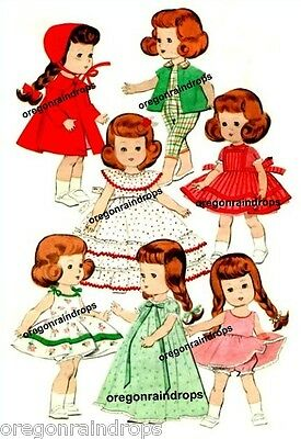 Vintage Doll Clothes Pattern for Ginny Muffie Wendy #3
