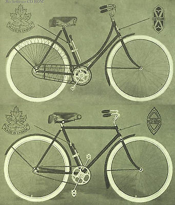 1918 Antique Old Bicycle Bike Repair parts Catalog onCD