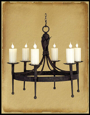 Ch1040-30 : 6 Light Hand Forged Wrought Iron Chandelier