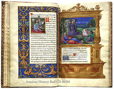 1524 BOOK OF HOURS Illuminated Manuscript in Latin onCD