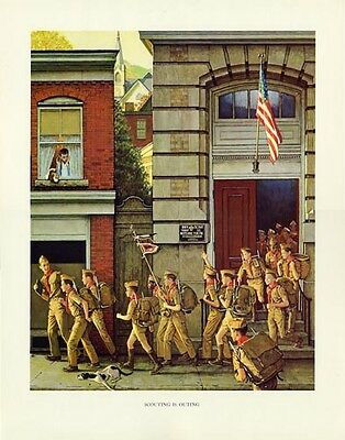 Norman Rockwell Boy Scout Print SCOUTING IS OUTING 1968