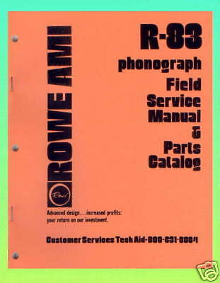 Rowe R-83 Jukebox Service and Parts Manual