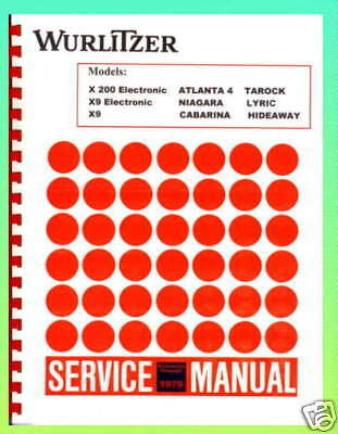 Wurlitzer 1979 Models Jukebox Service & Parts Manual