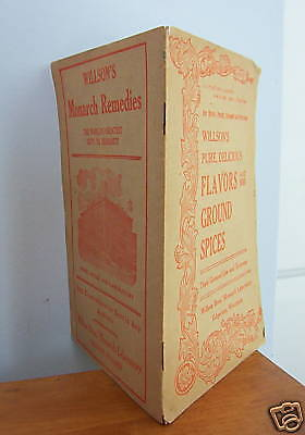 Willson's FLAVORS & GROUND SPICES Advertising Booklet circa 1907
