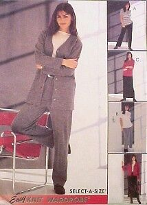Misses JACKET TOP PANTS SKIRT Pattern KNITS All Sizes