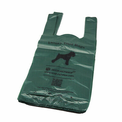 Scot-Petshop 500 Exo Biodegradable Large Green Dog Poop Scoop Bags Waste Bags