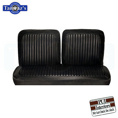 1973 73 Dart / Swinger / Scamp Front Bench Seat Covers Upholstery Black PUI New