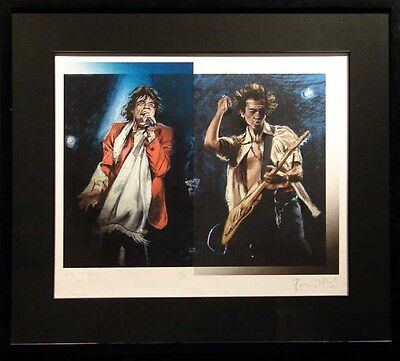 Ronnie Wood Stray Cat Blues SOLD OUT Artwork framed Print H.Signed Hard 2 Find