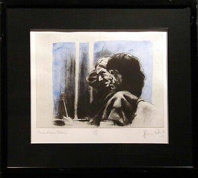 Ronnie Wood Charlie Mick Relaxing Sold Out Art LIMITED EDITION framed FRAMED