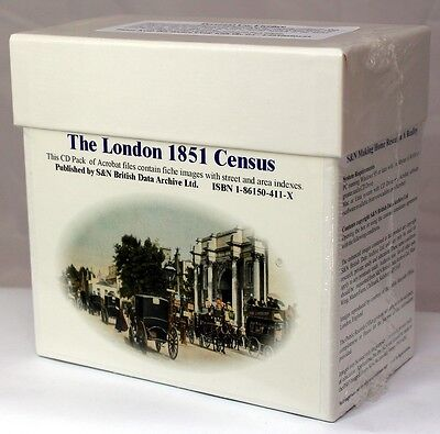 London 1851 Census LICENCED CD SET S&N DIRECT