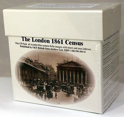 London 1861 Census LICENCED CD SET S&N Direct