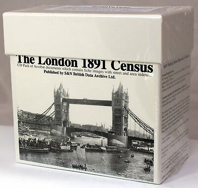 London 1891 Census LICENCED CD SET S&N DIRECT