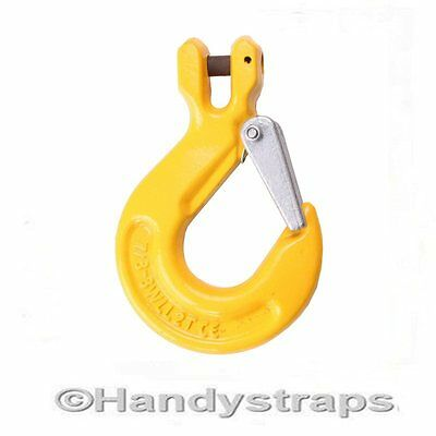 8mm Clevis Sling Hooks with Safety Catch - Lifting Chain hook 1.15 TON