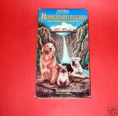 Homeward Bound:The Incredible Journey VHS~Ship $3.00