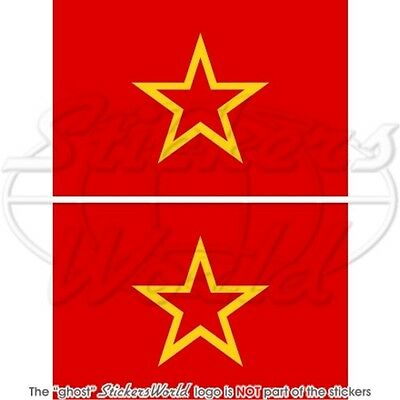 """RED ARMY FLAG Soviet Armed Forces USSR Russia 100mm (4"""") Stickers Decals x2"""