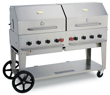 BBQ GRILL MCB-60 Crown Verity w/ cover & Double Dome