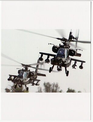 Postcard of Two Apache Helicopters AH64
