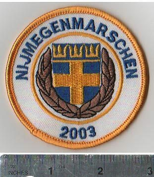 Sweden/Swedish Army Team 2003 Nijmegen March Patch