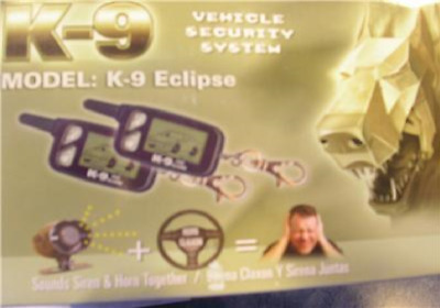 K9 Eclipse 2 Way LCD Pager Car Alarm w Keyless 3 ch NEW