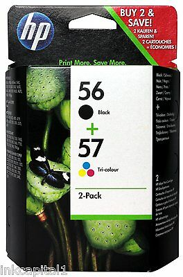 HP Original Multi Pack Original OEM Inkjet Cartridges No 56 & No 57 Black & Col