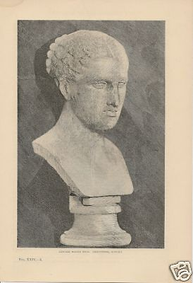 1882 Hellenic Age of Sculpture Greek vintage article