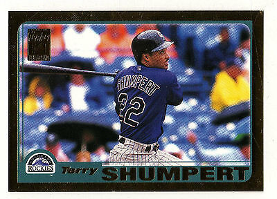 2001 Topps Gold BB #266 Terry Shumpert Rockies BV$5