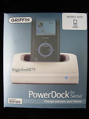 Griffin PowerDock for SANSA View Fuze Charge Sync Sansa Connect USB Mini-B cable