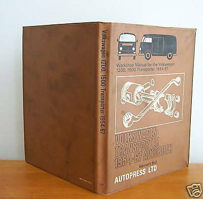 VOLKSWAGEN Transporter 1954-67 Autobook by Kenneth Ball, Illustrated