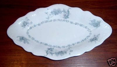Grindley Teal Eaton Floral Soap Dish Oval Bowl