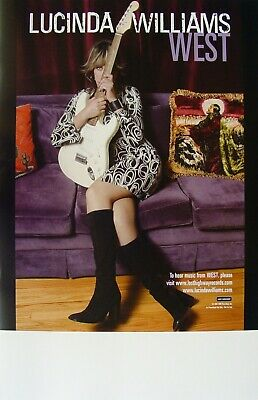 LUCINDA WILLIAMS West PROMO Poster HAL WILLNER Learning How to Live RARE Guitar