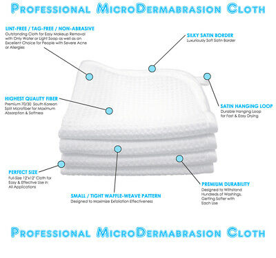 MicroDermabrasion Cloth Erases - WRINKLES, SCARS - Anti-Aging - ACNE Treatment