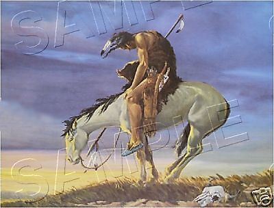 """""""End Of The Trail"""" American Indian *Canvas* Art ~ Large"""