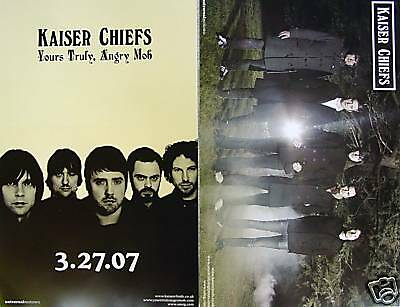 KAISER CHIEFS Yours Truly, Angry Mob PROMO TwoSided Poster RICKY WILSON New RARE