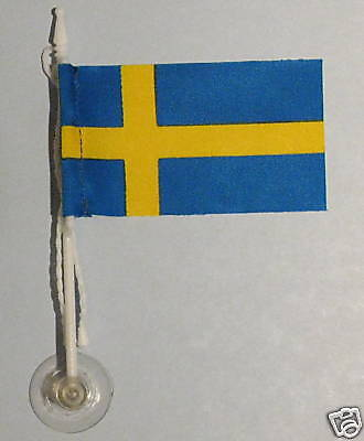 Sweden MiniPole Car / Window Flag NEW